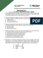 EJERCICIOS 06 Aplicación de La Volumetría Ácido - Base