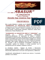 Rumbasur La Orquesta Unica y Original- Proforma 2017-Viaje (Cuzco)