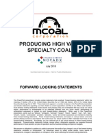 MCoal Coal July Investor Slides