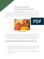 Cara Membuat Pupuk Organik Cair Dari Buah Busuk
