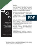 Armonización de La Legislación Penal Contra El Crimen Organizado
