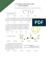Examen Canguro Matematico Nivel Benjamin 2015