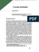 El Cuerpo Instituido Margarita Baz