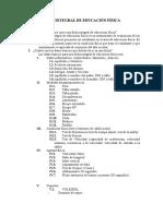 Ficha Integral de Educación Física