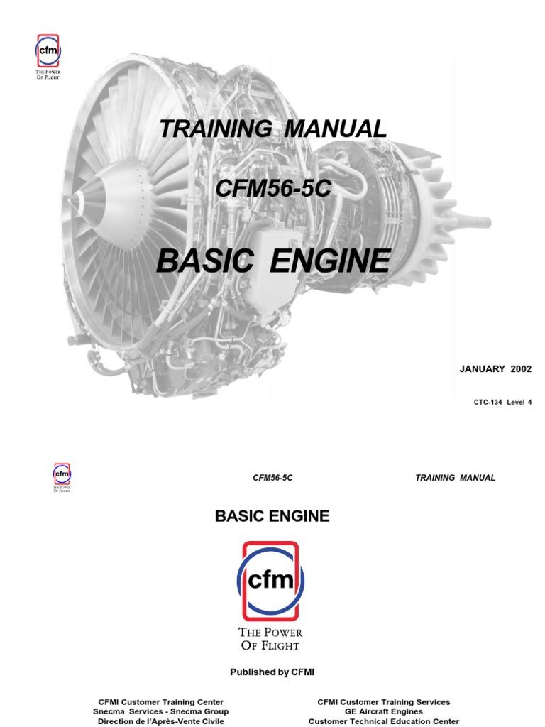 9c18d1e0dce26afe0c5e_Jet Engine CFM56-5C - Training Manual.pdf | Bearing  (Mechanical) | Turbine