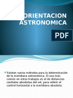 ORIENTACION ASTRONOMICA