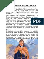 Biografía Corta de Túpac Amaru II