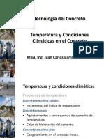 Temperatura y Condiciones Climáticas en El Concreto