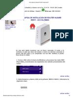 Guía Rápida de Instalación Router Huawei Ws311