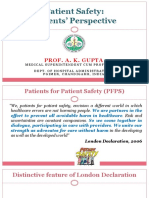 Dr. a.K. Gupta- Patient Safety