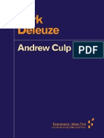 Dark Deleuze Forerunners Ideas First Culp Andrew