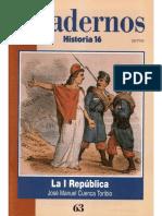 Cuadernos Historia 16, Nº 063 - La Primera República