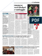 La Provincia Di Cremona 07-04-2017 - Calcio Lega Pro