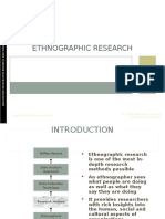 Chapter 8 - Ethnographic Research