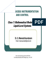 Class 7 - Mathematical Modeling of Liquid-Level Systems