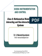 Class 8 - Mathematical Modeling of Interacting and Non-Interacting Level Systems
