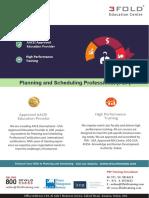 PSP Flyer Dubai - Planning & Scheduling Professional