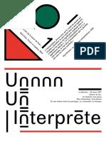 Livret #1 Interprète - La Brèche Festival 2017