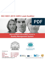 ISO QMS 9001 Lead Auditor Course