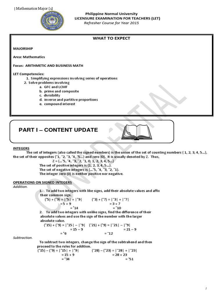 LET (Math Major) Reviewer Combined 195Pages 16mb | Triangle ...