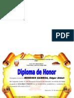 Diploma de Honor Jesus Nazareno