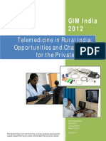 GIM India 2012 Telemedicine in Rural India Challenges Opportunities