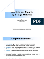 Blackhat 06 EU - Rootkits Vs Stealth.