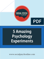 5 Psychology Studies