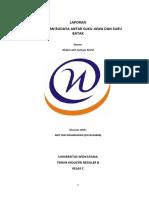 Laporan Perbedaan Budaya Suku Jawa & Batak