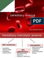 Hereditary Anemia