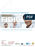 FIDIC Contracts Management and Administration
