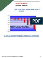 Tensión en Siria y Elección en Francia Generan Incertidumbre. El Dólar Recupera en Europa