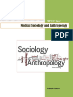 Medical Sociology and Anthropology