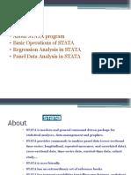 STATA Basics Regression and Panal Data