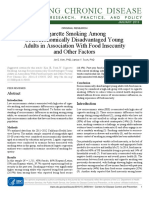 Cigarette Smoking Among Socioeconomically Disadvantaged Young Adults in Association With Food Insecurity and Other Factors 2016