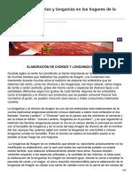 Como Elaborar Chorizo y Longaniza en Los Hogares de La Manera Tradicional