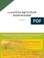 Dialéctica agricultura biodiversidad