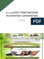 Encuentro Internacional Economías Campesinas