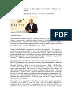 Carta Ao Planalto Sobre a Atuação Da Máquina Operacional Do Estado – a Operação Da Saúde, Educação e Segurança