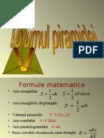 volumul piramidei