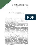 Brochard, La Morale de Platon - 1905