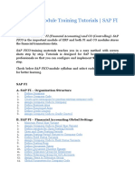 Z SAP FICO Module Training Tutorials