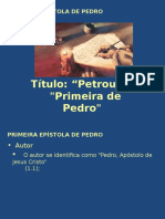 Pedro - Primeira Epístola