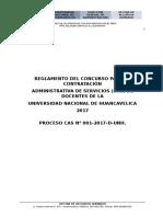 Reglamento Del Concurso Cas 2017 Unh Personal Docente