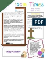 april 7 newsletter