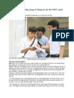 Bộ GD&ĐT giải đáp nóng về đăng ký dự thi THPT quốc gia 2017.docx