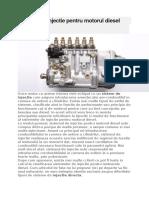 Sisteme de Injectie Pentru Motorul Diesel