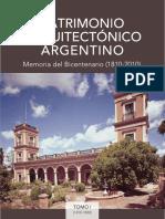 Petrina, Jorge (coord) Patrimonio Arquitectónico  Argentino - Parte I