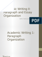 Essay and Paragraph Organization
