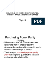 Topic 5b - Relationships Among Inflation, Interest Rates, Inflation